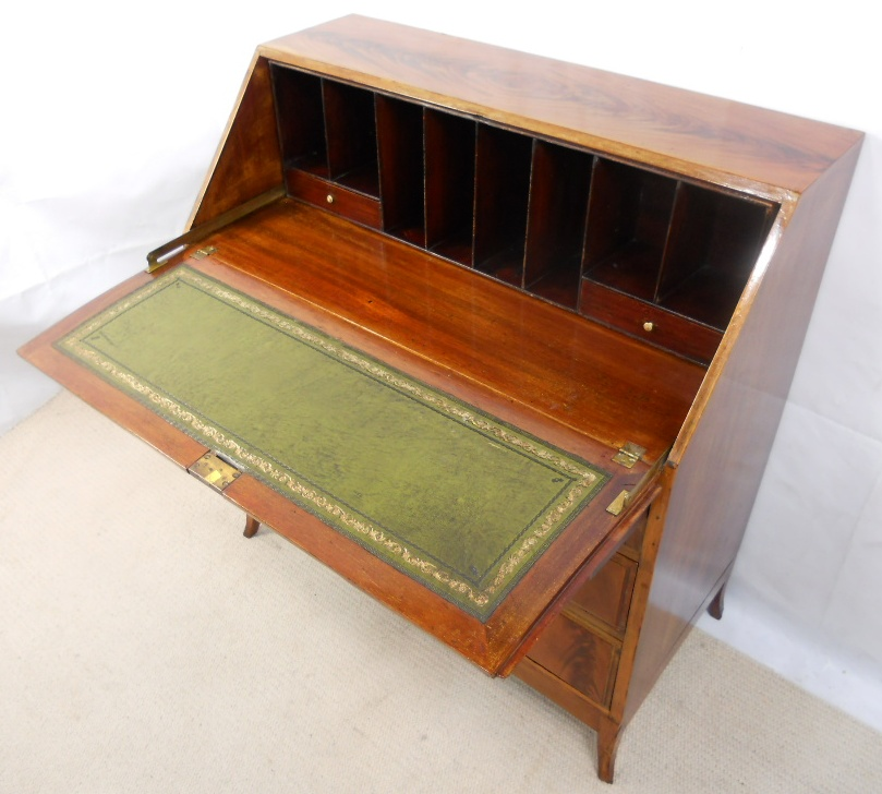- Mahogany Writing Bureau Desk In The Antique Georgian Style - SOLD
